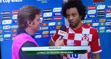 Sério, Marcelo? Camisa da Croácia? Faltou seriedade.